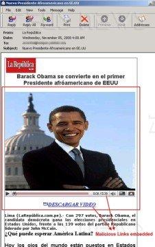 Il malware utilizza il nome di Obama